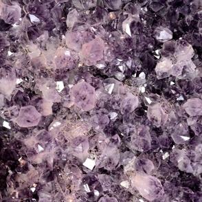 Amethyst Crystals Large Print