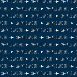 Wild and free arrows - grey/white-ch