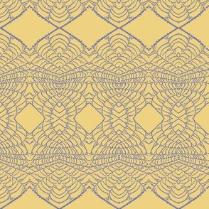 Spider Web (Blue on Yellow)