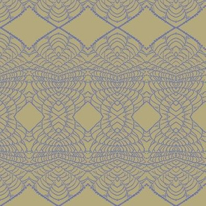 Spider Lace (Blue on Taupe)