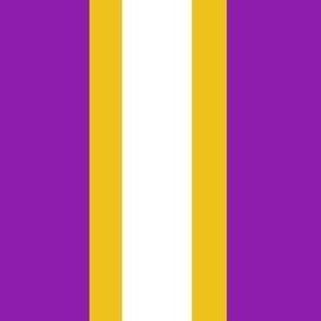 Suffragette Stripes - American - Purple and Gold