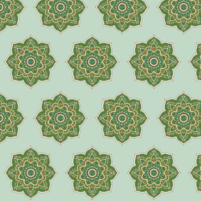 Soul Love Mandalas Green Medium