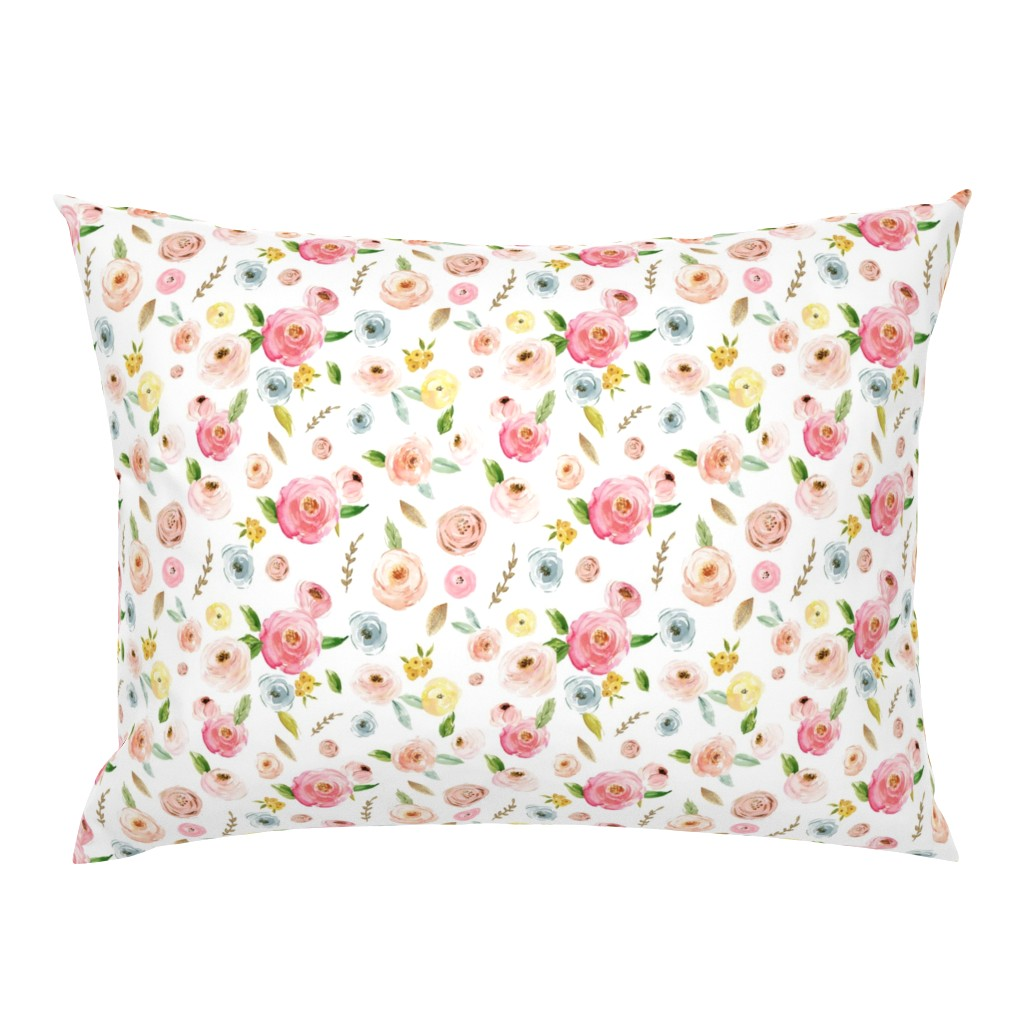 Campine Pillow Sham featuring Blush Pinks & Pastels Floral by hudsondesigncompany