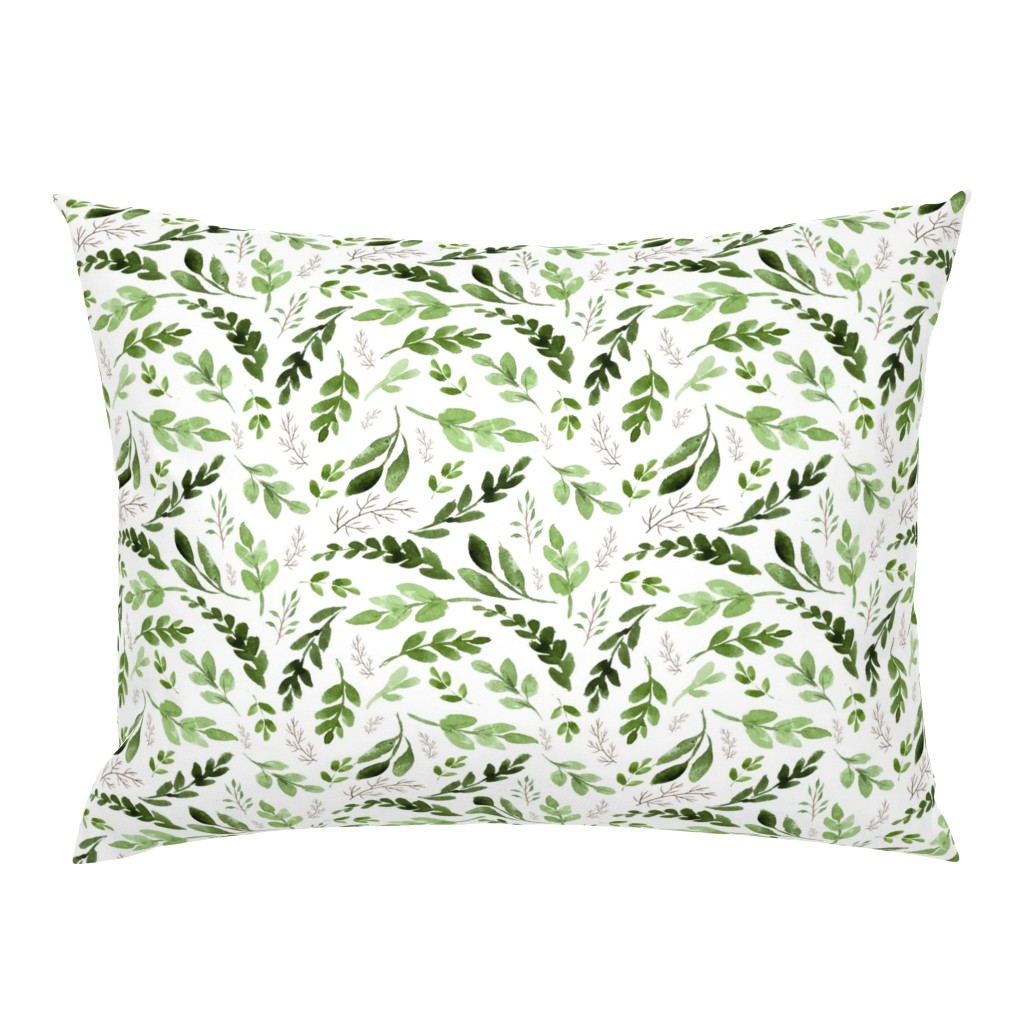 Campine Pillow Sham featuring leaves by hudsondesigncompany