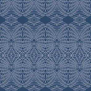 spider Web (Lavender on Deep Blue)