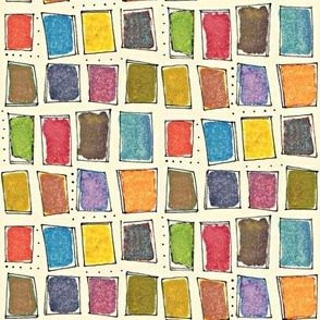 watercolor paint chip grid