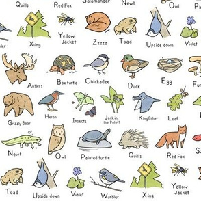 Woodland Alphabet Art Pattern