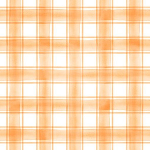 watercolor plaid || orange double