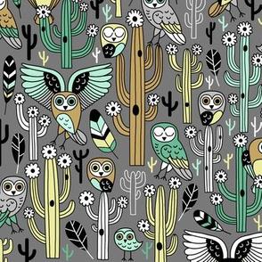 desert owls - medium gray // updated