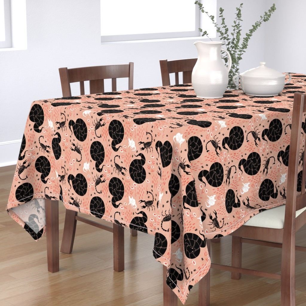 Bantam Rectangular Tablecloth featuring Nowhere to hide - Dusk by pinky_wittingslow