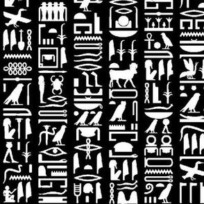 Egyptian Hieroglyphics - Black // Small