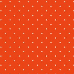 Dots on tangerine