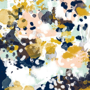 sloane abstract fabric - large scale