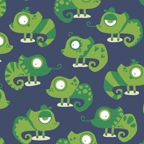 Greenery Chameleon - dark