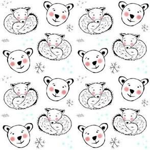 Polar Bear & Arctic Fox