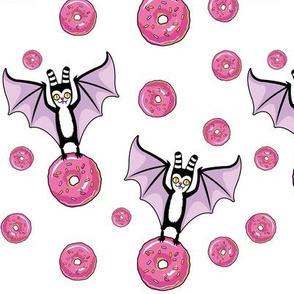 bat and donut - white version