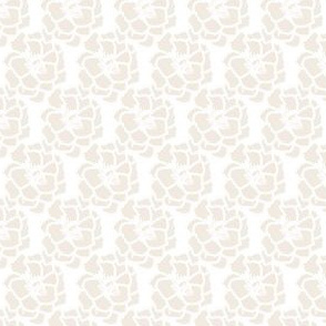 Beige Floral on White_Miss Chiff Designs