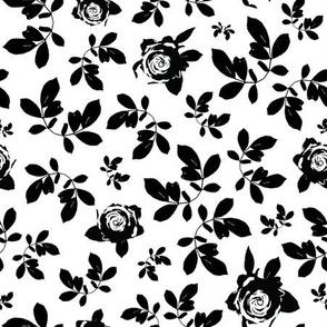 Mono Floral | Black and White