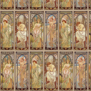 Times Of The Day Alphonse Mucha