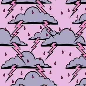 Stormy - pink sky version