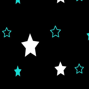 Oh my stars teal and black