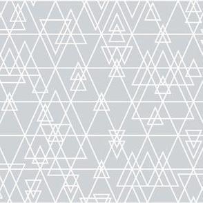 mod girl geo triangles grey