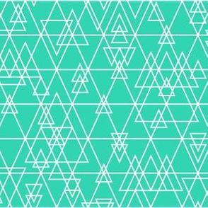 mod girl geo triangles mint