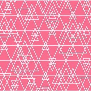 mod girl geo triangles pink