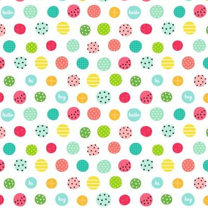 hello hi hey dots :: fruity fun - xsm