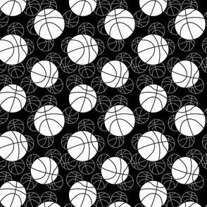 basketball monochromatic