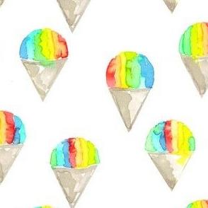 snow cones rainbow