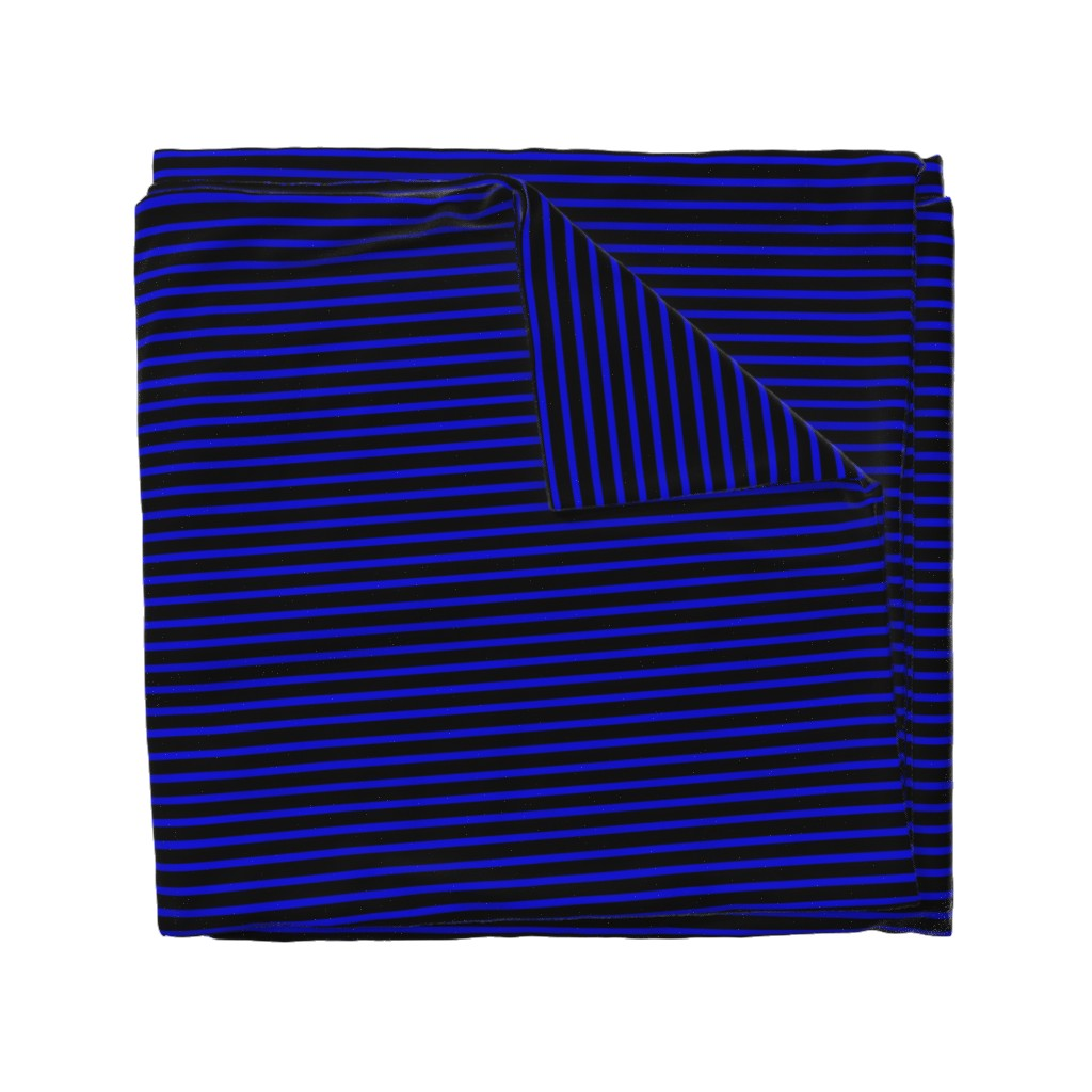 Wyandotte Duvet Cover featuring Thin Blue Line Police Support by themadcraftduckie