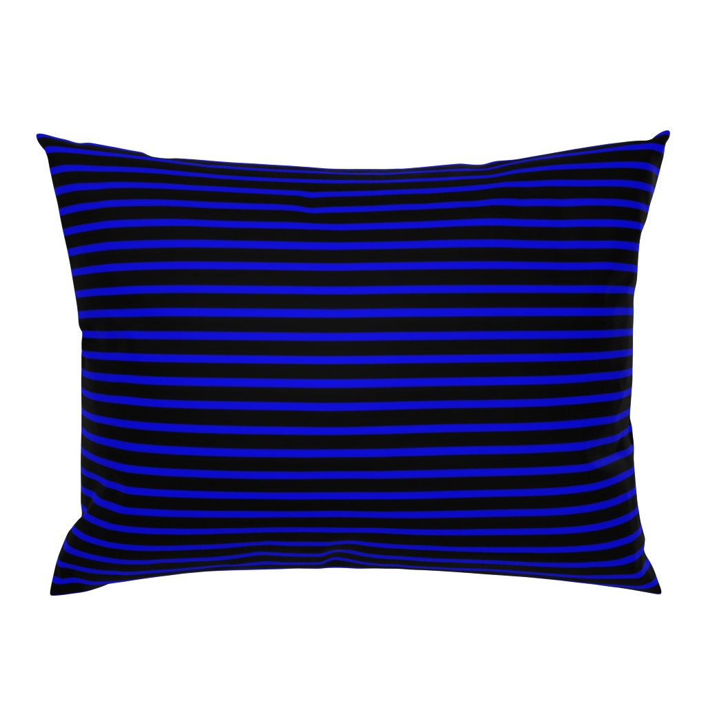 Campine Pillow Sham featuring Thin Blue Line Police Support by themadcraftduckie