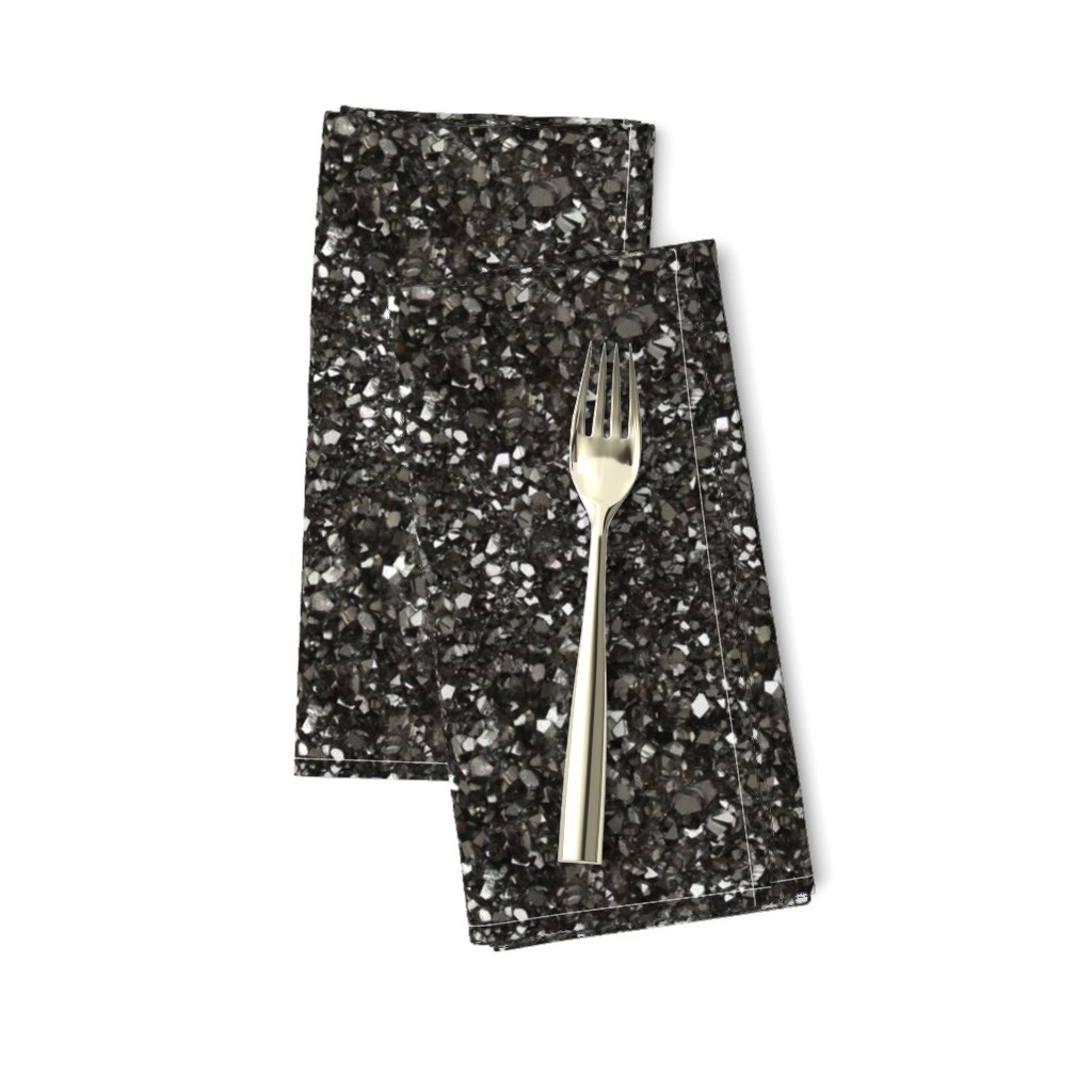 Amarela Dinner Napkins featuring Stones // Grey Hematite Crystal by stars_and_stones