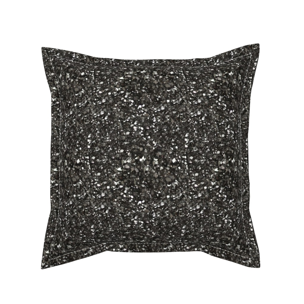 Serama Throw Pillow featuring Stones // Grey Hematite Crystal by stars_and_stones
