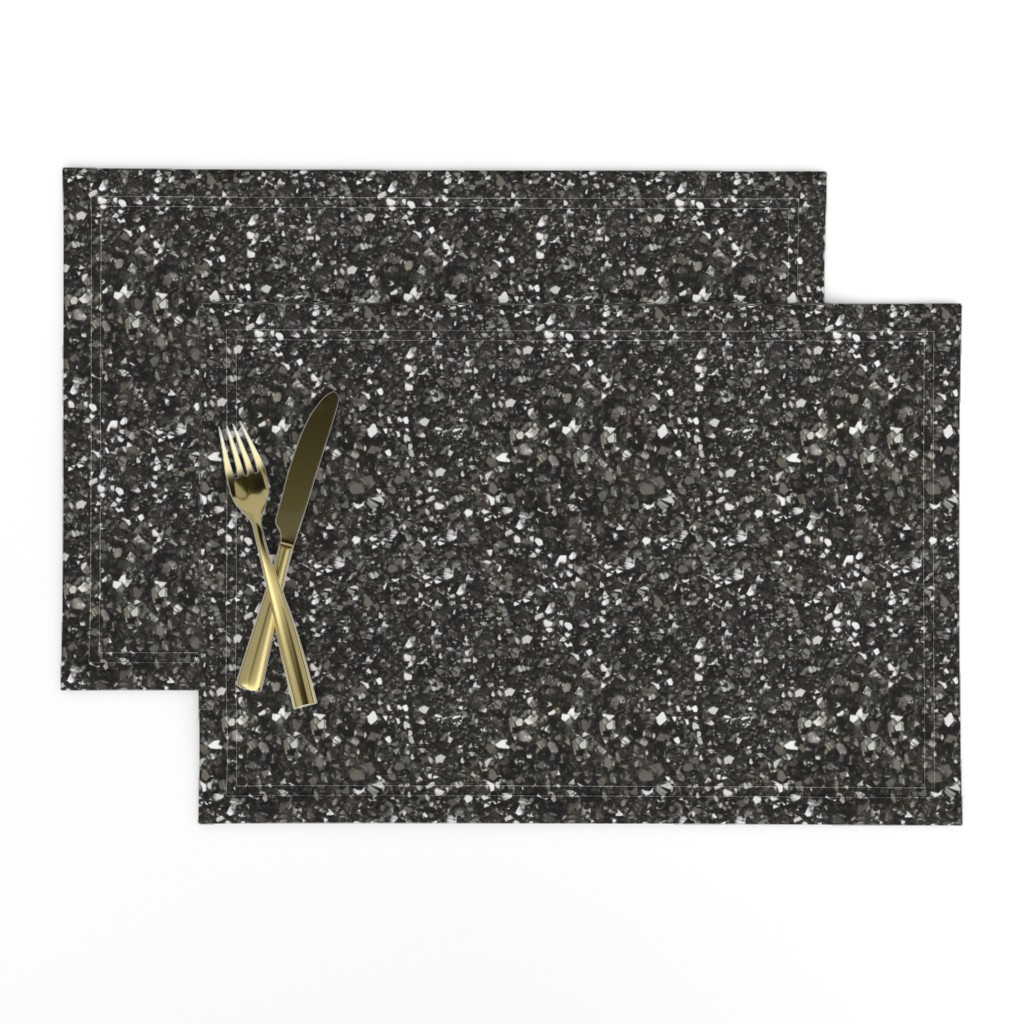 Lamona Cloth Placemats featuring Stones // Grey Hematite Crystal by stars_and_stones