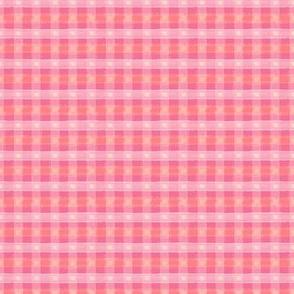 Watercolor Pink Plaid XXS