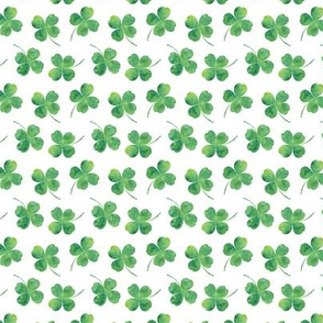 """3/4"""" small scale - shamrock toss    watercolor"""