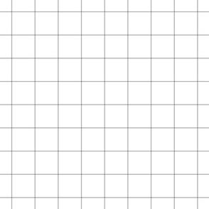 """grey windowpane grid 2"""" square check graph paper"""