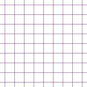 """grape windowpane grid 2"""" square check graph paper"""