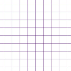 "amethyst windowpane grid 2"" square check graph paper"