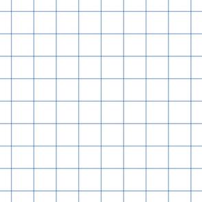 """cornflower blue windowpane grid 2"""" square check graph paper"""