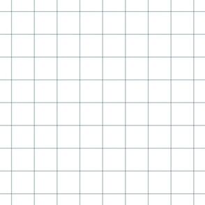 """slate blue windowpane grid 2"""" square check graph paper"""