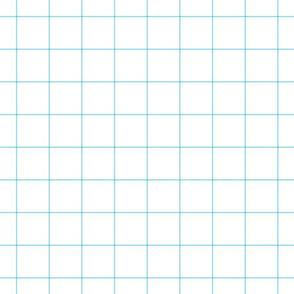 """sky blue windowpane grid 2"""" square check graph paper"""