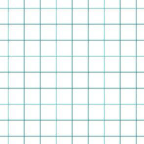 "dark teal windowpane grid 2"" square check graph paper"