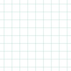 "mint green windowpane grid 2"" square check graph paper"