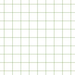 """apple green windowpane grid 2"""" square check graph paper"""
