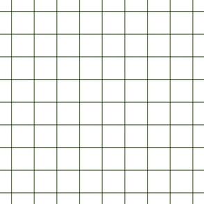 """hunter green windowpane grid 2"""" square check graph paper"""