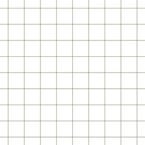 """sage green windowpane grid 2"""" square check graph paper"""