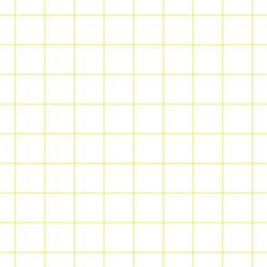 "lemon yellow windowpane grid 2"" square check graph paper"